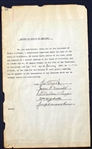 Multi-Signed Baseball Document Signed by HOFer George Wright & Honest Johnny Morrill