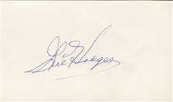 Gil Hodges Signed 3x5 Slip of Paper