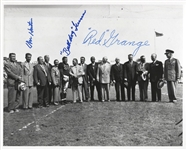 "Red Grange Don Hutson Bulldog Turner Signed Photo ""Gathering of Gridiron Immortals"""