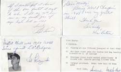 10 Baseball HOFers and Stars Greatest Thrills Signed GPC Letter Collection