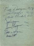 Joe DiMaggio Multi - Signed Circa 1940 Album Page w/ Yankees & Red Sox