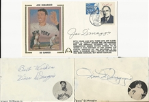 Joe, Dom, & Vince DiMaggio Autograph Collection
