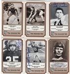 "Signed 1974 Fleer ""The Immortal Roll"" Football Cards (12)"