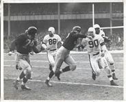 Circa 1948 Marion Motley Gains 12 Yards on a Sunday Afternoon Original Photo