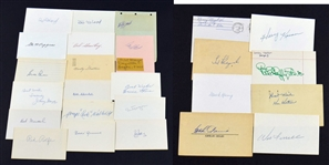 Collection of Non-HOF Baseball Stars Autographs – Don Hoak – Carl Mays