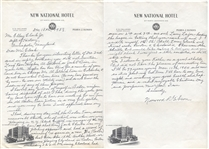 Norwood Gibson Signed Letter 1903 Red Sox Great Content