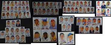 1980-2001 Perez-Steele Hall of Fame Postcard Complete Set with 94 signed