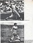 Roger Maris signed 7x9 Photo Hitting HR 61