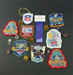 Collection of Super Bowl Patches & Football pins – Deacon Jones estate
