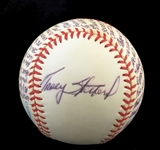 "Tracy Stallard Signed ""Story"" Ball Describing Yielding Maris 61st Home Run"