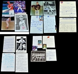 Vintage Baseball Autograph Group of Signed Letters & Photos