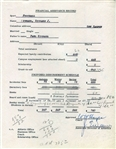 Woody Hayes signed Ohio State football document Circa 1957