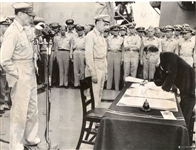 1945 Japanese Surrender on USS Missouri Original Photo Ending WWII in the Pacific Original Photo