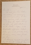 Ray Scott Signed Handwritten Letter – Voice of the Green Bay Packers