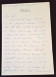 Ray Scott Signed Handwritten Letter #2  – Voice of the Green Bay Packers