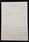 Ray Scott Signed Handwritten Letter #4  – Voice of the Green Bay Packers