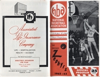 1962 Chicago Zephyrs vs. San Francisco Warriors basketball program 1 year team Wilt Chamberlain 46 points