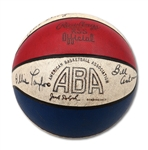 1972-73 San Diego Conquistadors Team Signed Official ABA Jack Dolph Basketball