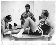 Rick Barry Locker Room Original Photo 1972 ABA – NBA All-Star Game w/ Oscar Robertson