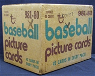 1980 Topps Baseball Unopened Sealed 3-Box Rack Case BBCE Rickey Henderson RC