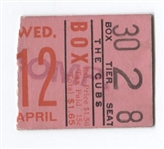 April 12, 1933 Chicago Cubs vs Cardinals Warneke 4 Hits Dizzy Dean – Opening Day Ticket