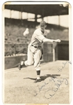 Lon Warneke signed George Burke 1930's Original Photo Chicago Cubs D. 1976
