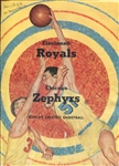 1962 Chicago Zephyrs vs. Cincinnati Royals 1962 Scorecard  Program Oscar Robertson 30 PTS