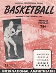 1947 Chicago Gears Vs Anderson Packers vs Oshkosh All-Stars NBL basketball program