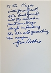 Joe Robbie AFL football Pioneer - Miami Dolphins Signed Book
