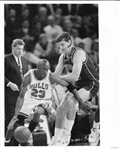 Michael Jordan Original 1991 Photo – NBA Playoff Game vs Pistons Bill Laimbeer