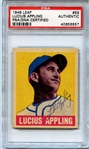 1948 Leaf Baseball #59 Lucius Luke Appling Signed Autographed PSA/DNA – Super RARE
