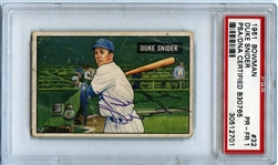 1951 Bowman #32 Duke Snider Signed Autographed PSA/DNA