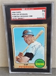 1968 Topps #188 Cap Peterson Senators Signed Autographed SGC D. 1980 at age 37