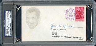 John Kundla Signed Envelope Dated 1956 Basketball Hall of Fame