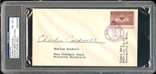 Charlie Caldwell Signed Envelope College Football HOF & Yankees D.1957