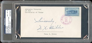 Dana X Bible Signed Card College Football Hall Of Fame – Texas D. 1980