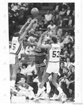 Michael Jordan 1989 TYPE I Original Press Photo vs Detroit Pistons