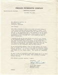 Cab Renick Signed Letter 1948 Olympic Basketball Team Native American