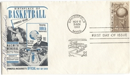 Forrest DeBernardi Signed 1961 Naismith Basketball HOF FDC D.1970 Tough Autograph