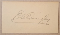 Ernest C. Quigley Autograph Signature Album Page D.1960 Basketball Hall of Fame PSA/DNA