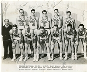 Danny Daniel Biasone & 1949-50 Syracuse Nationals Team Signed Photo Historic!!!