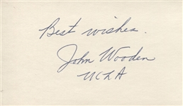 John Wooden Signed Autograph Archive of 2 from 1964