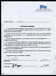 Darryl Kile No-Hit 3 x All-Star Pitcher Signed Topps Baseball Card Contract
