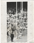 "1955 World Series – Sandy Amoros ""The Catch"" UPI wire photo ICONIC SHOT"