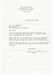 Sid Luckman Typed Letter Signed Chicago Bears Hall of Fame