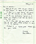 David Dave C Hilmers Signed Handwritten Letter NASA Astronaut