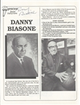 Danny Daniel Biasone Super Rare Basketball HOF autograph Signed Photo