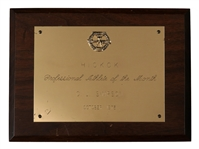O.J. Simpson 1973 Hickok Professional Athlete of the Month plaque Award
