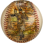 1968 Hoyt Wilhelm White Sox HOFer - Hand Painted Baseball by George Sosnak