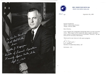 Walter J. Kapryan NASA Launch Director Apollo Missions Signed Letter & Photo 1969